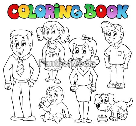 coloring book family collection 1