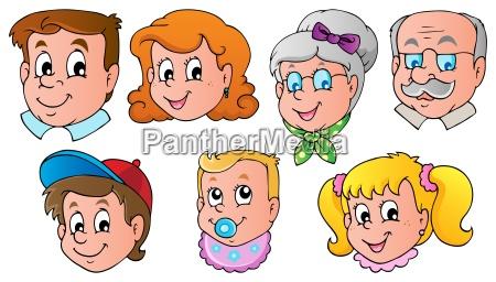 family faces theme image 1