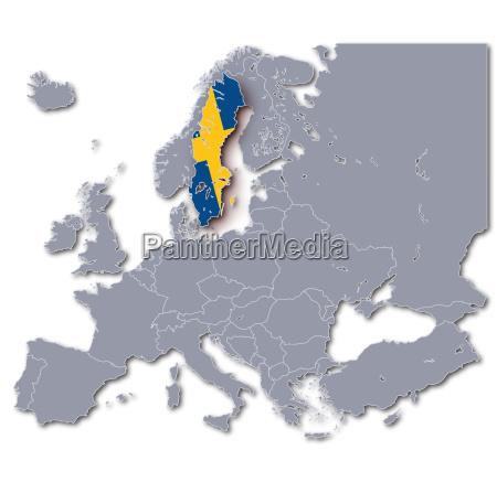 europakarte schweden