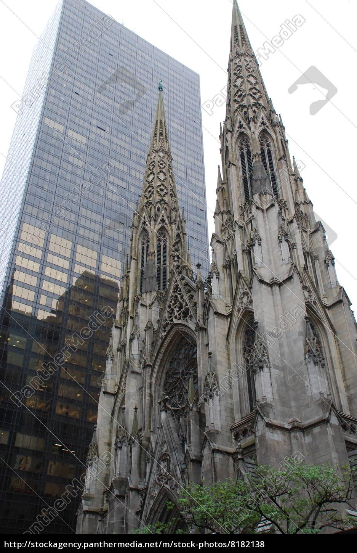 neugotik, st.patick´s, kathedrale, new, york, manhattan - 8182138