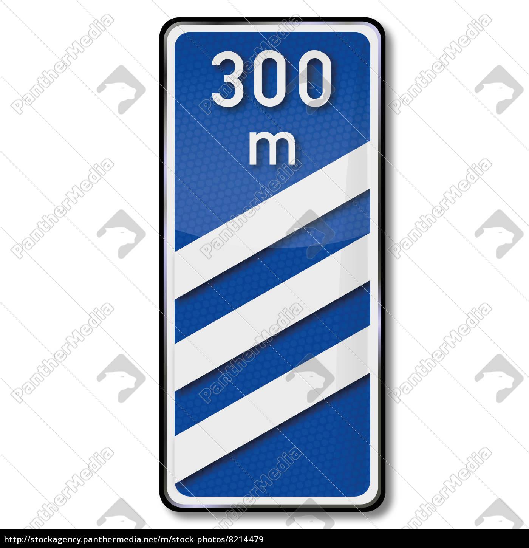 Schild Barke In Dreihundert Meter Ausfahrt Lizenzfreies Bild