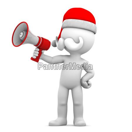 weihnachtsmann mit megafon