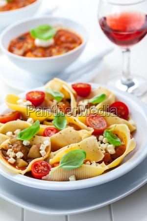 pasta mit gemuese eintopf