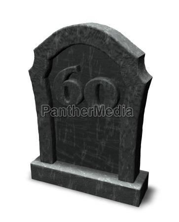 number on grave stone