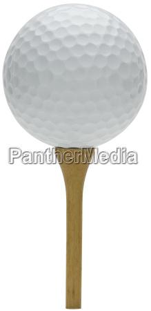 golfball und t stueck