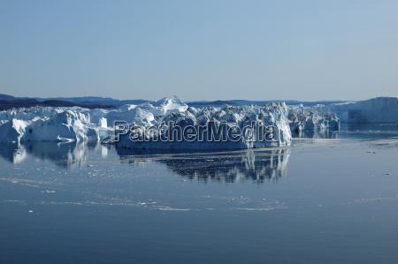 eisbergs ilulissat suedkueste groenland im sommer
