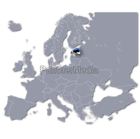 europakarte estland