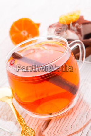 fruit tea and cream star