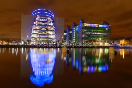 illumination at dublin river