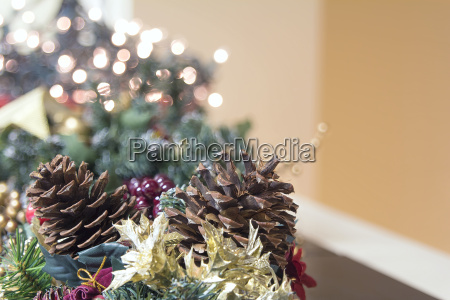christmas garland decoration with out of