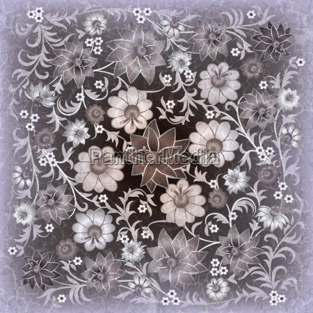 abstract grunge floral ornament