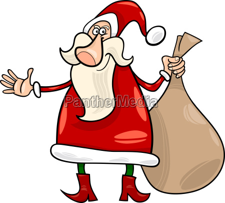 santa claus weihnachten cartoon illustration