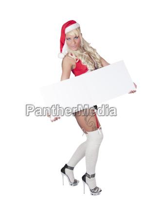 sexy woman as a christmas woman