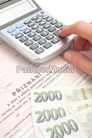 tschechische steuerformular