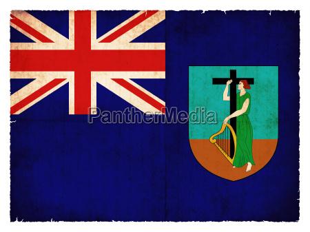 grunge flagge monserrat britisches UEberseegebiet