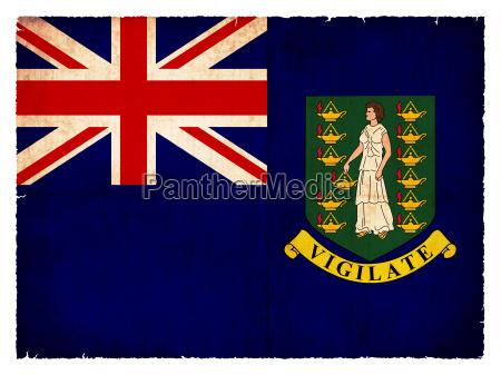 grunge flagge britische jungferninseln britisches UEberseegebiet