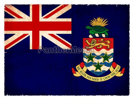 grunge flagge kaimaninseln britisches UEberseegebiet