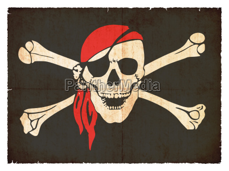 pirantenflagge im grunge stil