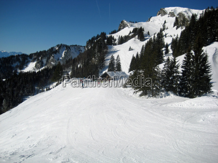 winter bavaria background of mountains snow