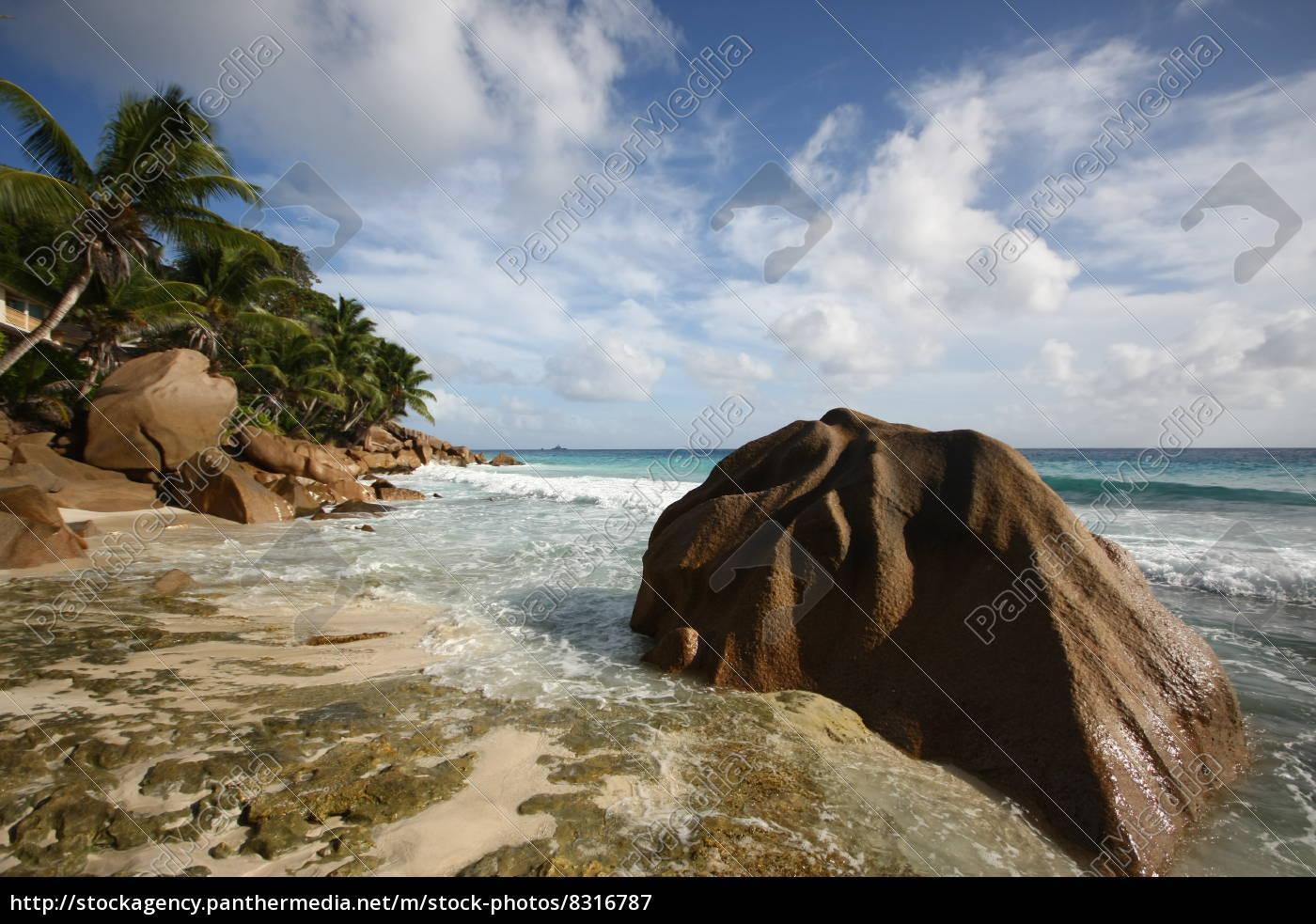La Digue, Seychellen, Strand, Wolken, Wasser, Afrika - 8316787