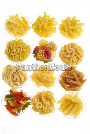 noodles rice and pods