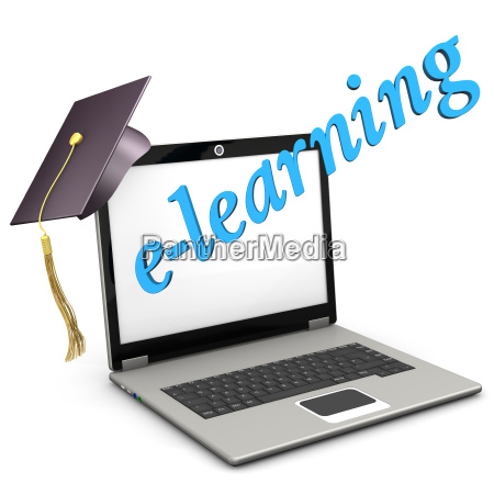 e learning notebook graduation cap