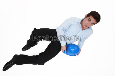 casual young architect laying on the