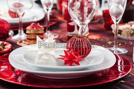 platz einstellung weihnachten mit papier stern