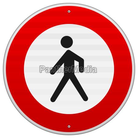 entrance forbidden sign