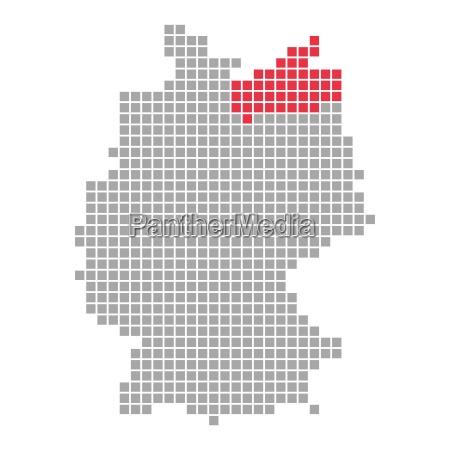 pixelkarte deutsche bundeslaender mecklenburg vorpommern