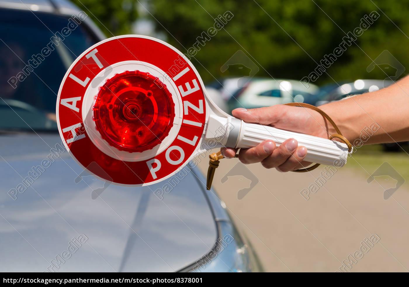 polizist, oder, polizei, in, streife, hält - 8378001