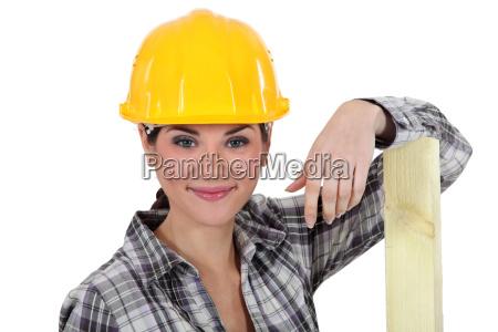 a female carpenter