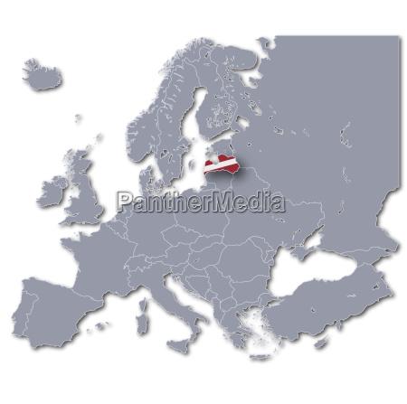 europakarte lettland