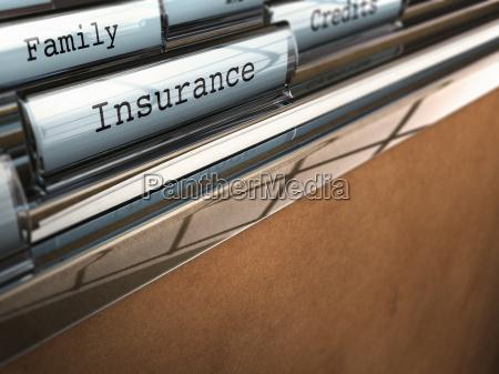 insurance folder family security