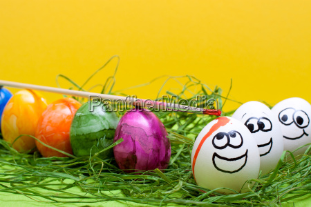 funny yellow background for easter