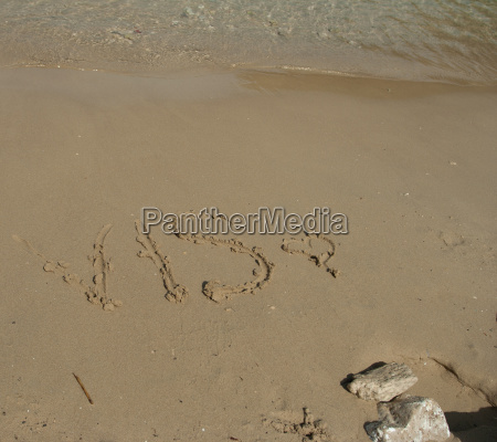 vis word in the sand at