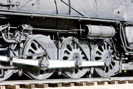 detail of steam locomotive kingman arizona