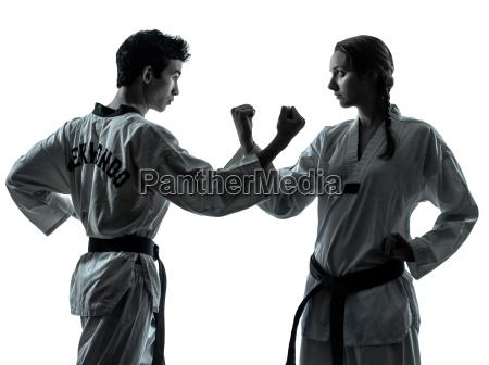karate taekwondo martial arts man woman