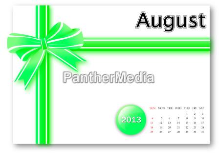 august von 2013 kalender