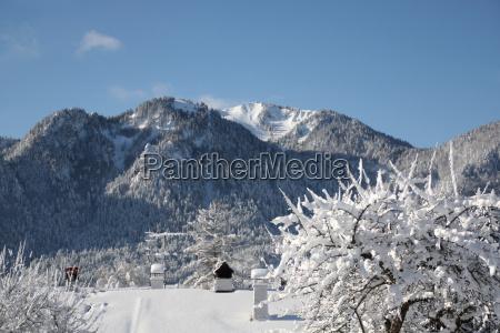 church ski region winter sports farmhouse