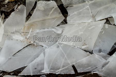 ice in the frozen ground