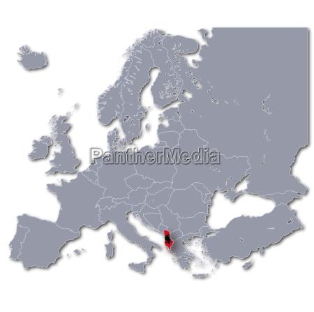 europakarte albanien