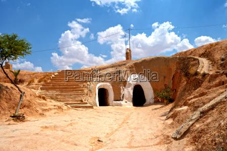 dorf von matmata tunesien afrika