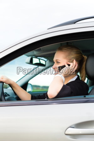 young woman with phone in the