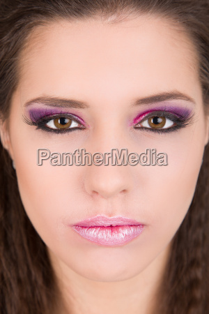 attractive woman with elaborate make up
