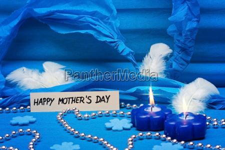 card with blue background for mothers
