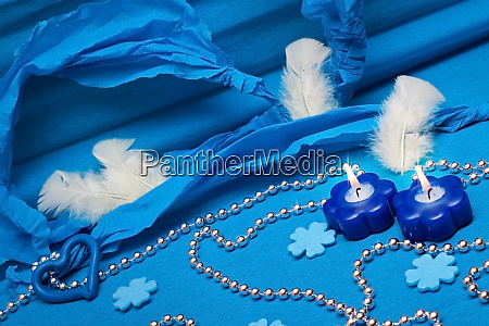 festive blue background decoration