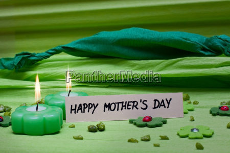 green background decoration for mothers day