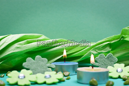 green background for festive occasions