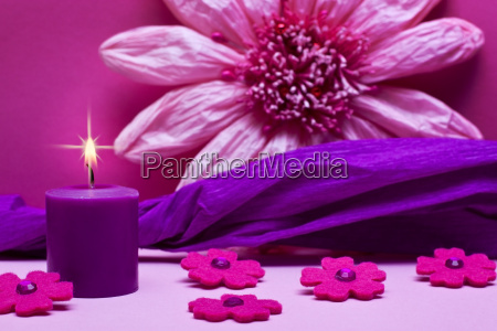 purple purple pink background with candle